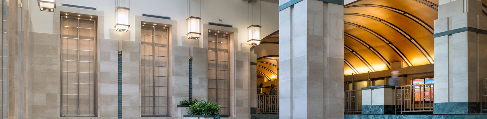 Franklin Court's Main Lobby and Atrium